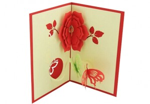 Flower & Butterfly Greeting Card. Inner Side