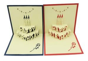 3D Happy Birthday Cake Card