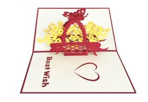 Best Wishes 3D Pop Up Greeting Card. Inner