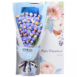 Doraemon Mini Figure Bouquet. Front View