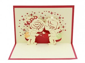 3D I Love You Card. Inner Side
