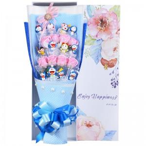Playful Doraemon Mini Figure Bouquet