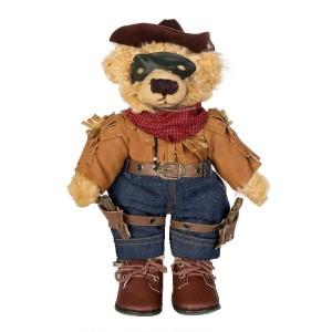 """Soft Teddy Bear """"Masked Cowboy"""". Front"""