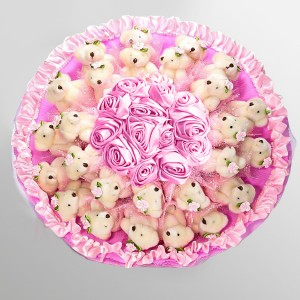 25 Teddy Bears Bouquet