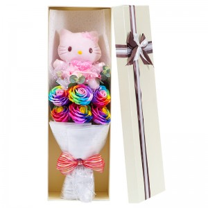 Hello Kitty & Rose Soap Flower Bouquet