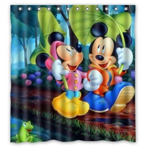 Mickey & Minnie Mouse Bath-Shower Curtain. Dubai, UAE