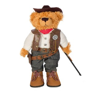 Soft Teddy Bear Sheriff. Front