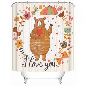Teddy Bear I Love You Shower Curtain
