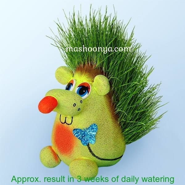 "Grass Head ""Rat"" with Grass"