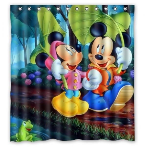 Mickey & Minnie Mouse Bath-Shower Curtain.
