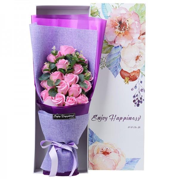 Radiant Pink Rose Soap Bouquet