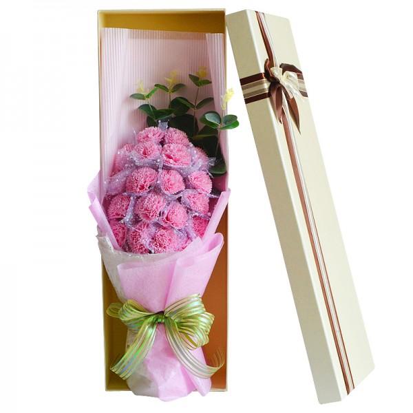 Carnations Soap Flower Bouquet